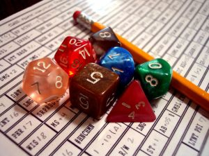 dice and paper
