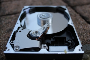 picture of an open hard drive