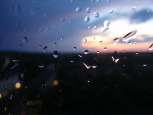picture of rain on window