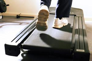 A one liner about exercising and treadmills