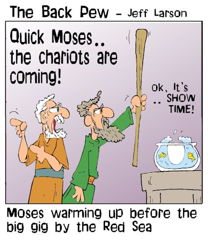 Moses warming up | Backpew | Cartoons | Entertainment
