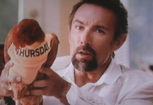 "Francesco Quinn Starred in Old El Paso's ""Chicken Thursday"" commercial."