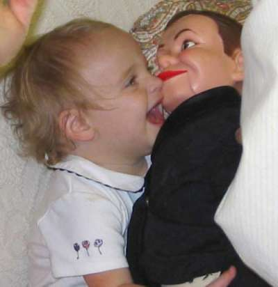 Funny Pictures of Baby with Ventriloquist Dummy