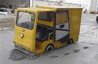 Funny Pictures of Vehicle Stuck in Cement