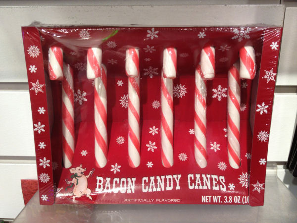 picture of bacon flavored candy canes