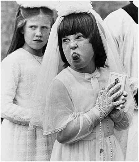 Funny Pictures of Girl in Confirmation Dress
