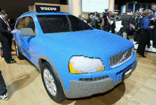 Funny Pictures of Volvo Car Made of Lego