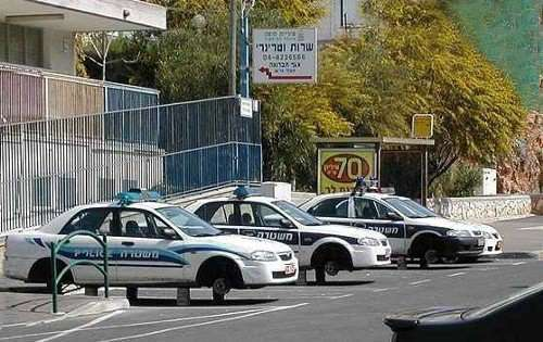 Funny Pictures of Police Cars on Blocks