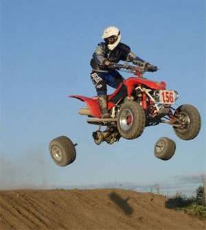 Funny Pictures of Quad ATV With Broken Axles