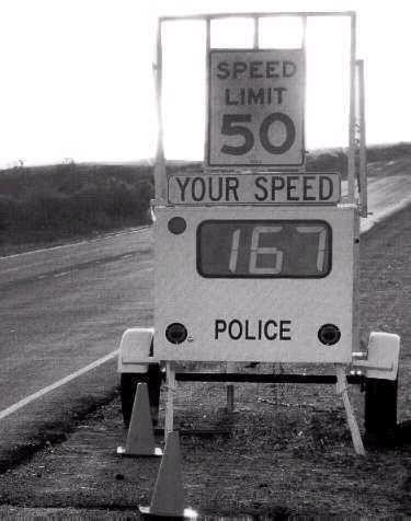Funny Pictures of Speed Trap Sign