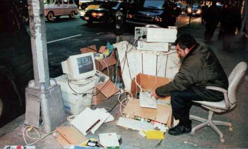 Funny Pictures of Computers Office On Street