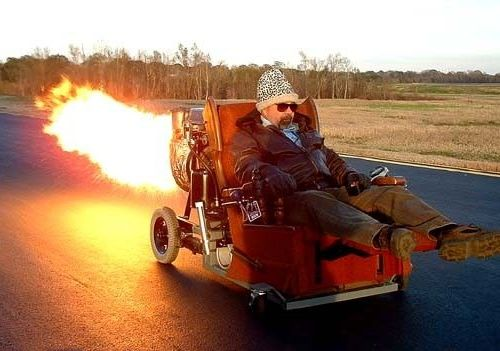 Funny Pictures of Rocket Lazyboy Chair.