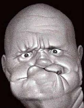 Funny Pictures of Man With Rubber Face