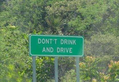 sign dont drink and drive