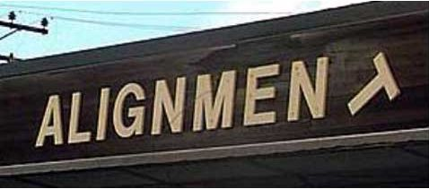 Funny Pictures of Suspension Alignment Shop Sign