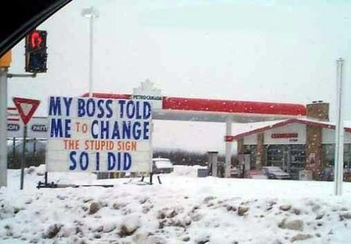 Funny Pictures of Stupid Sign Change