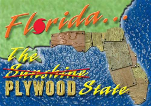 Funny Pictures of Florida Plywood State Postcard