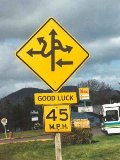Funny Pictures of Good Luck Road Sign