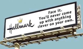 Funny Pictures of Hallmark Billboard