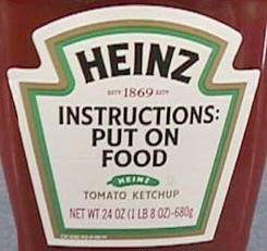 Funny Pictures of Heinz Ketchup Label