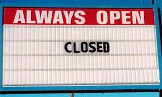 Funny Pictures of Always Open Closed Sign