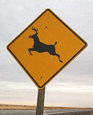 Funny Pictures of Reindeer Sign