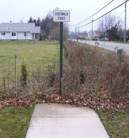 Funny Pictures of Sidewalk Ends Sign