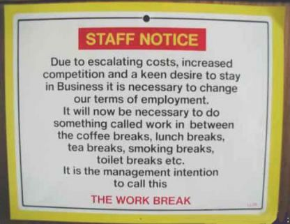 Funny Pictures of Staff Notice Sign
