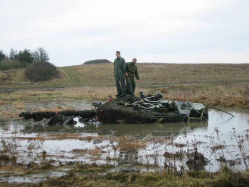 Funny Pictures of Tank Stuck in Swamp