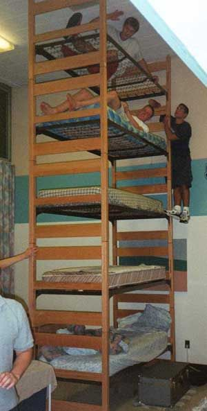 Funny Pictures of Towering Bunk Bed