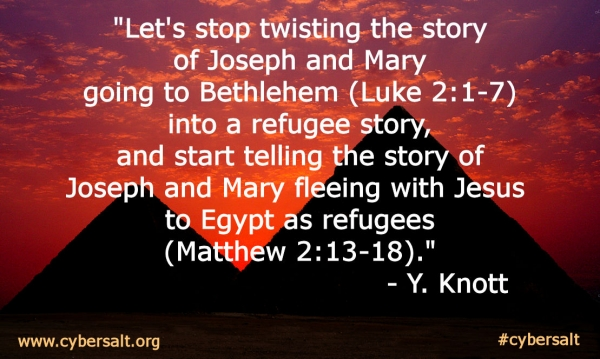 Joseph and Mary Refugee Quote