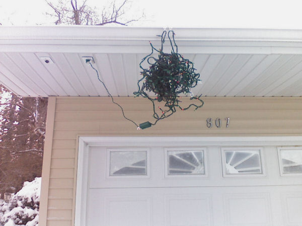 funny Christmas light picture