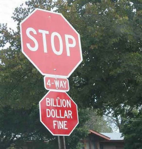 A Funny Stop Sign Pictures
